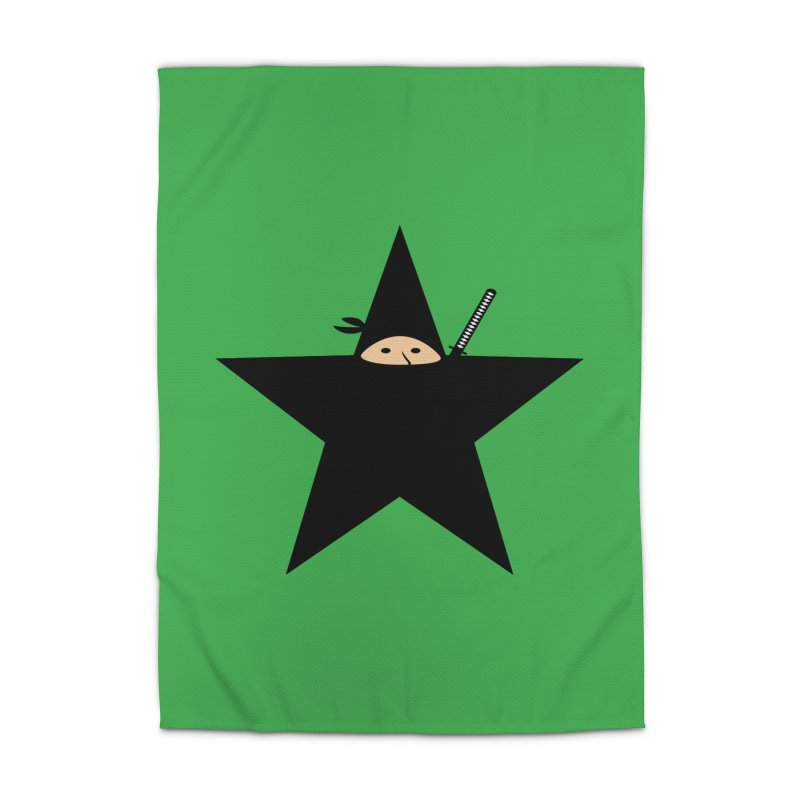 Ninja Star Home Rug by Alpha Ryan's Artist Shop