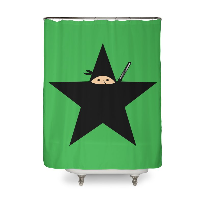 Ninja Star Home Shower Curtain by Alpha Ryan's Artist Shop