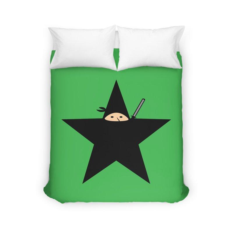 Ninja Star Home Duvet by Alpha Ryan's Artist Shop