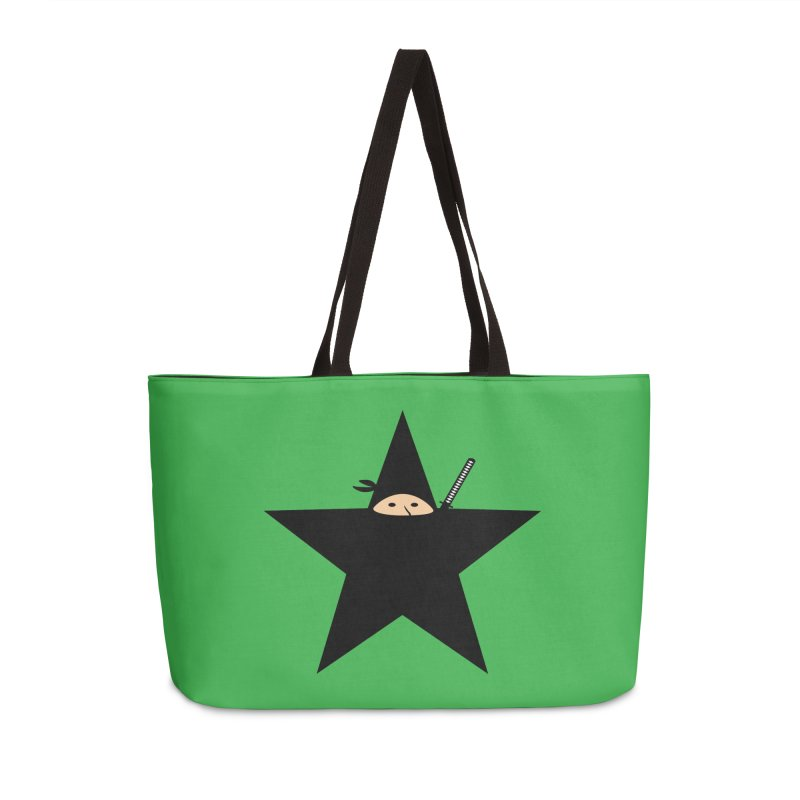 Ninja Star Accessories Weekender Bag Bag by Alpha Ryan's Artist Shop