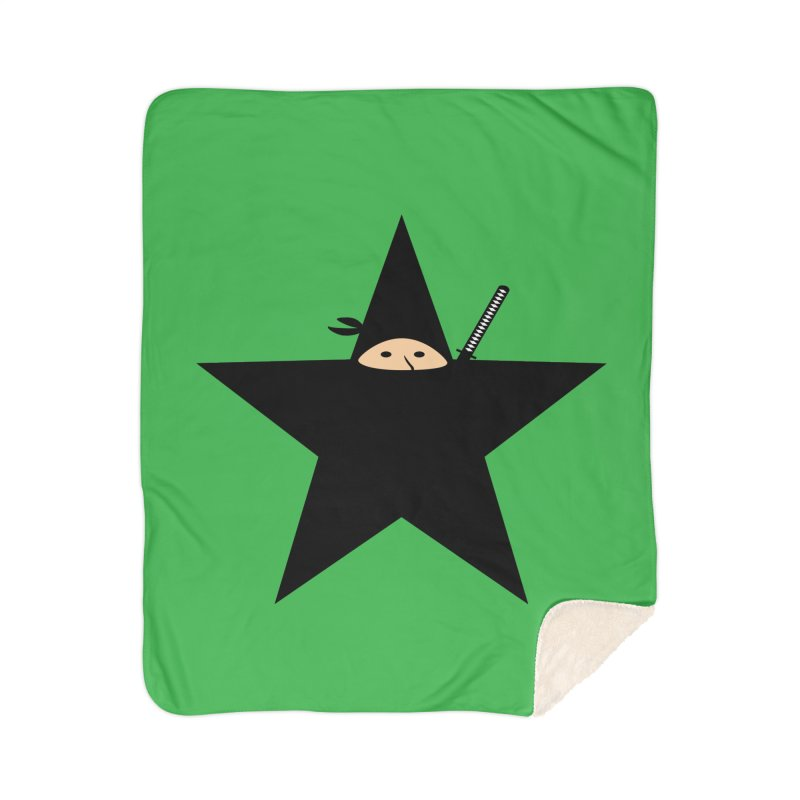 Ninja Star Home Sherpa Blanket Blanket by Alpha Ryan's Artist Shop