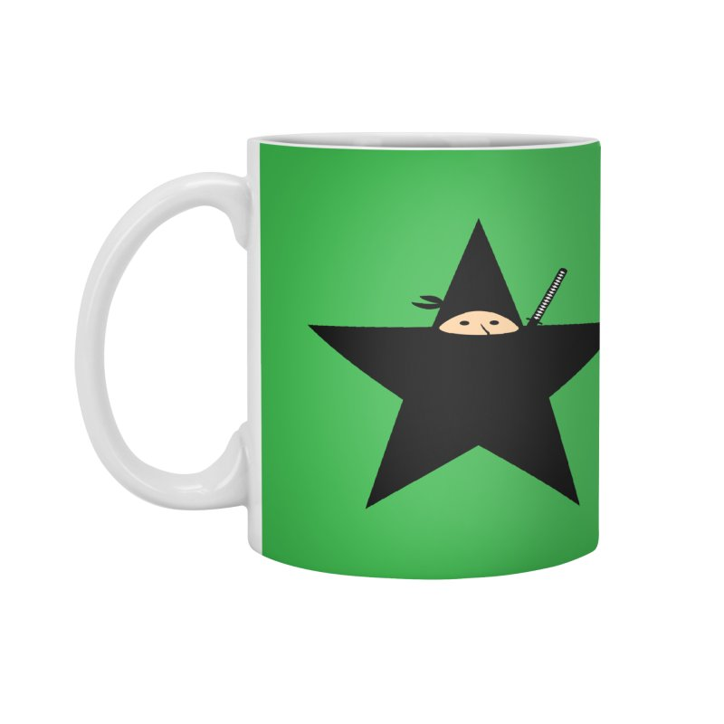 Ninja Star Accessories Mug by Alpha Ryan's Artist Shop