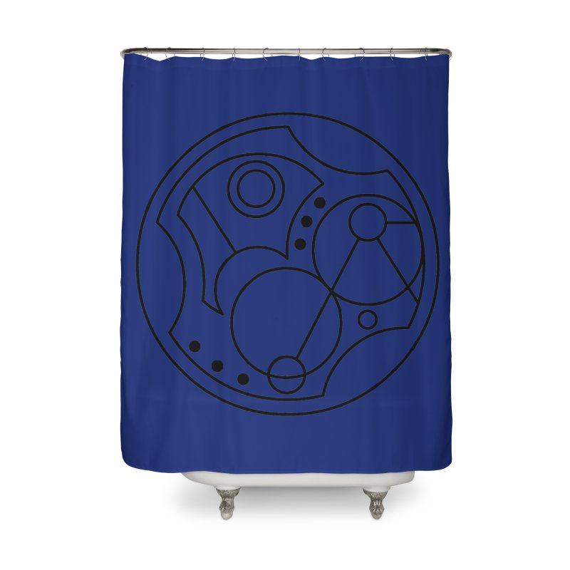 Bilingual Home Shower Curtain by Alpha Ryan's Artist Shop