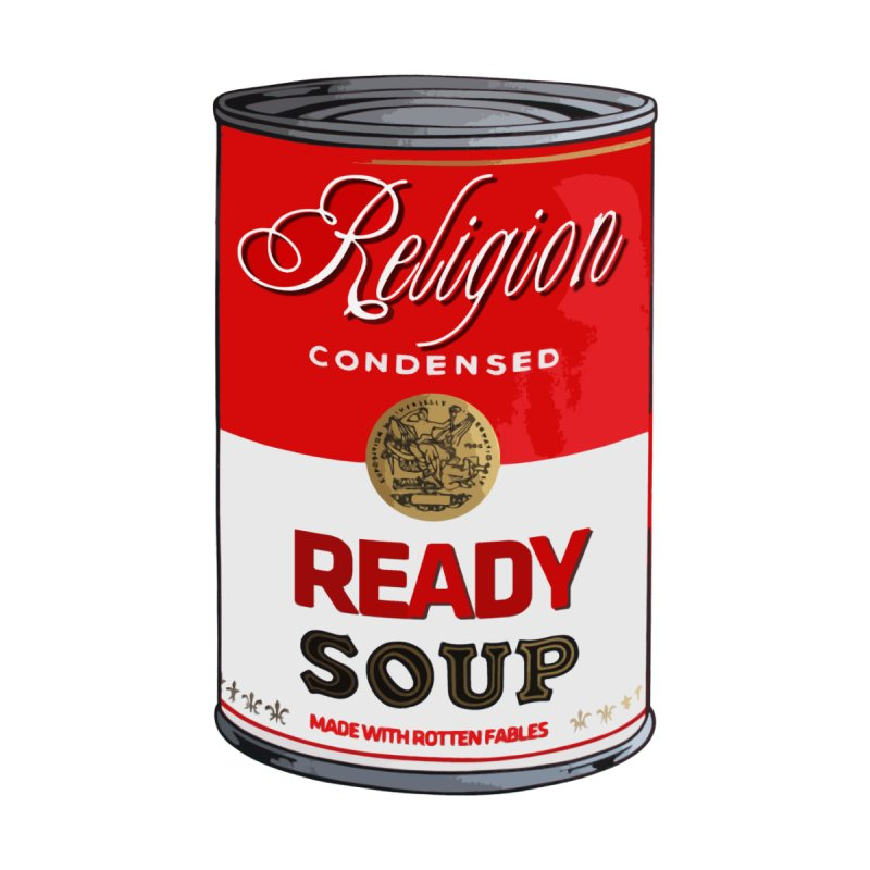 Religion condensed ready soup (warhol campbell) by alphaville's Artist Shop