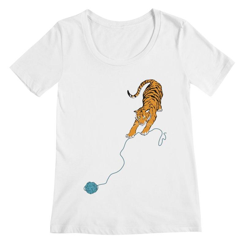 Big Kitty Women's Regular Scoop Neck by alrkeaton's Artist Shop