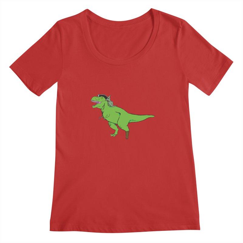 Tyrannosaurus Arrrrrex Women's Regular Scoop Neck by alrkeaton's Artist Shop