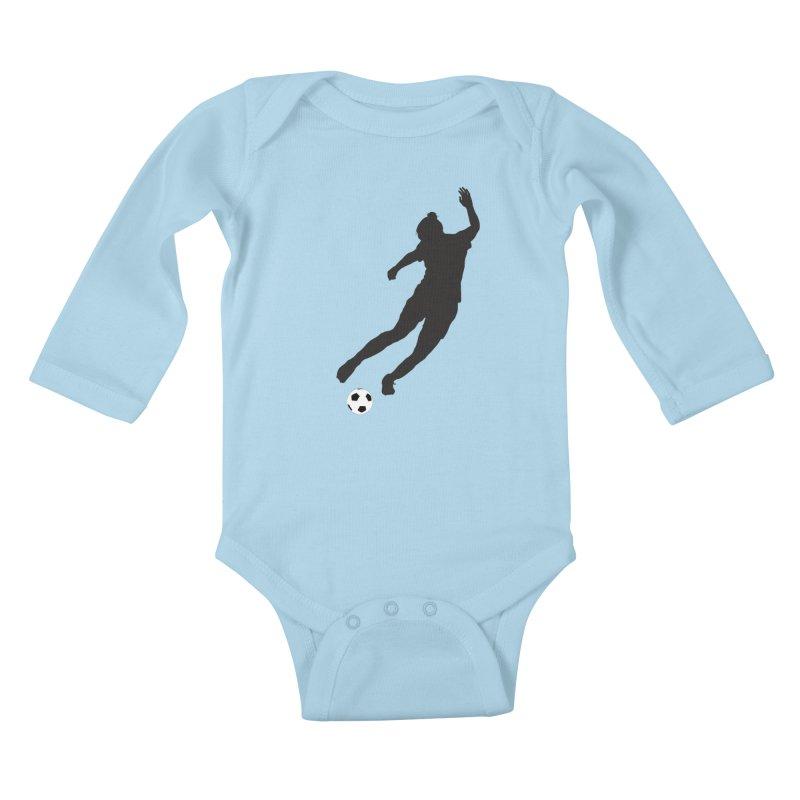 What a Kicker Kids Baby Longsleeve Bodysuit by alrkeaton's Artist Shop