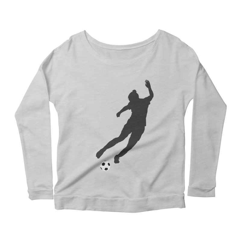 What a Kicker Women's Scoop Neck Longsleeve T-Shirt by alrkeaton's Artist Shop
