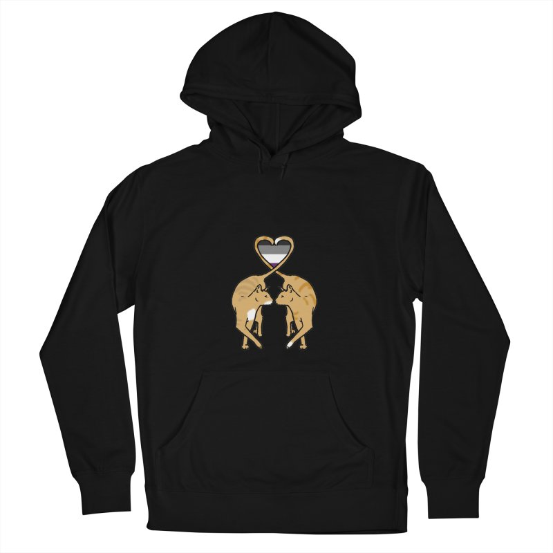 Ace Pride - Love Cats Women's French Terry Pullover Hoody by alrkeaton's Artist Shop