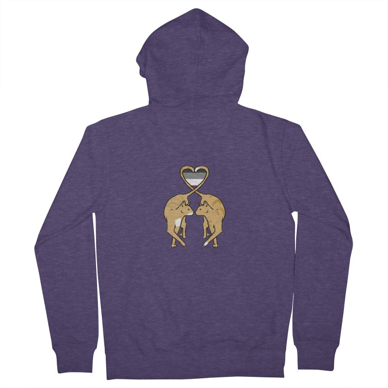 Ace Pride - Love Cats Men's French Terry Zip-Up Hoody by alrkeaton's Artist Shop