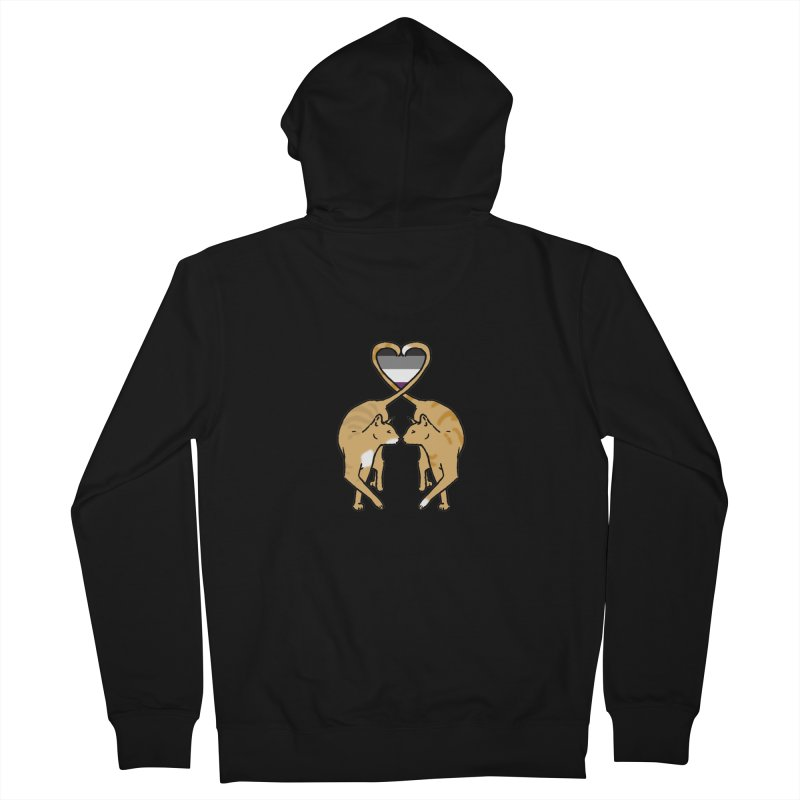 Ace Pride - Love Cats Men's Zip-Up Hoody by alrkeaton's Artist Shop