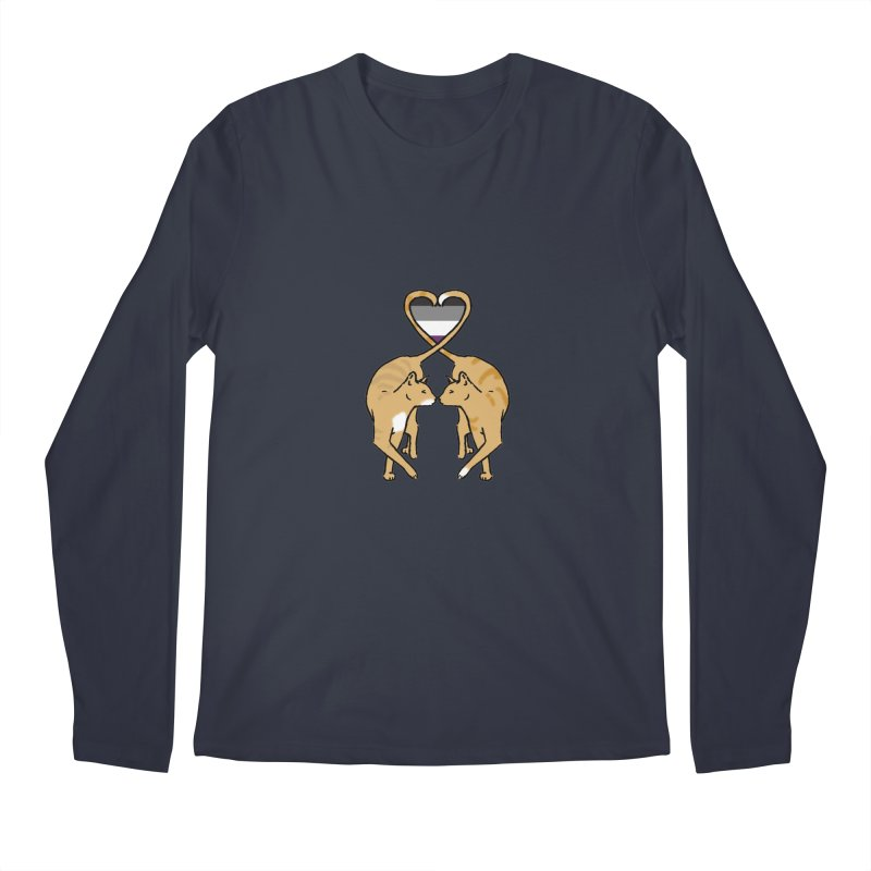 Ace Pride - Love Cats Men's Longsleeve T-Shirt by alrkeaton's Artist Shop