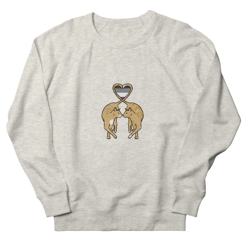 Ace Pride - Love Cats Women's French Terry Sweatshirt by alrkeaton's Artist Shop