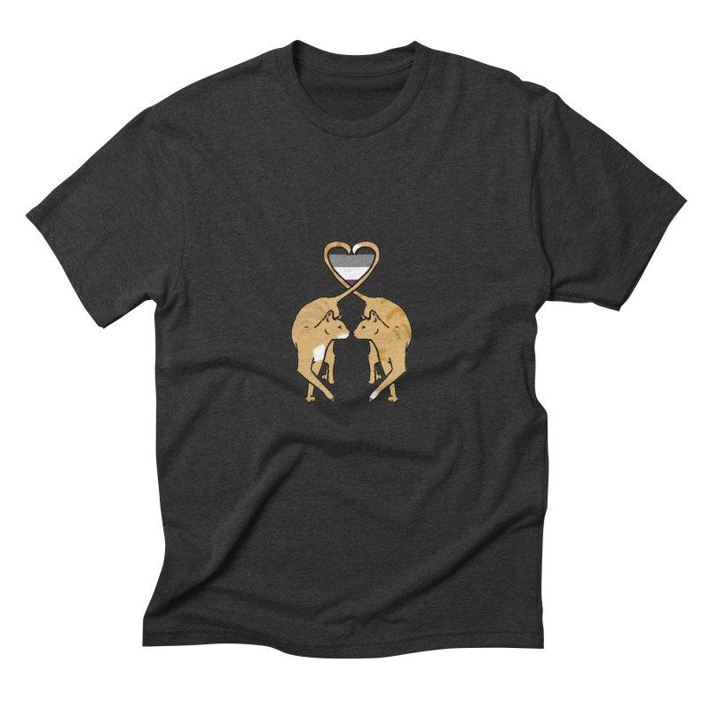 Ace Pride - Love Cats Men's Triblend T-Shirt by alrkeaton's Artist Shop