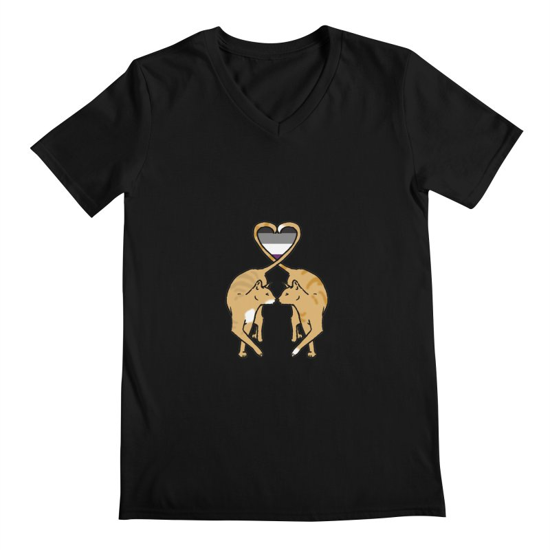 Ace Pride - Love Cats Men's Regular V-Neck by alrkeaton's Artist Shop