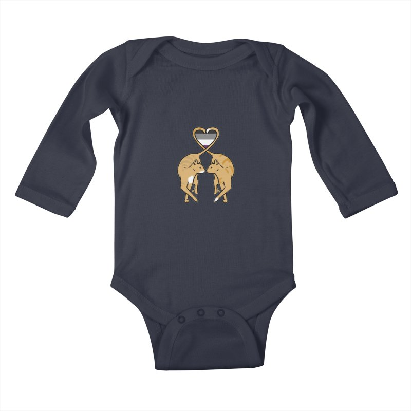 Ace Pride - Love Cats Kids Baby Longsleeve Bodysuit by alrkeaton's Artist Shop