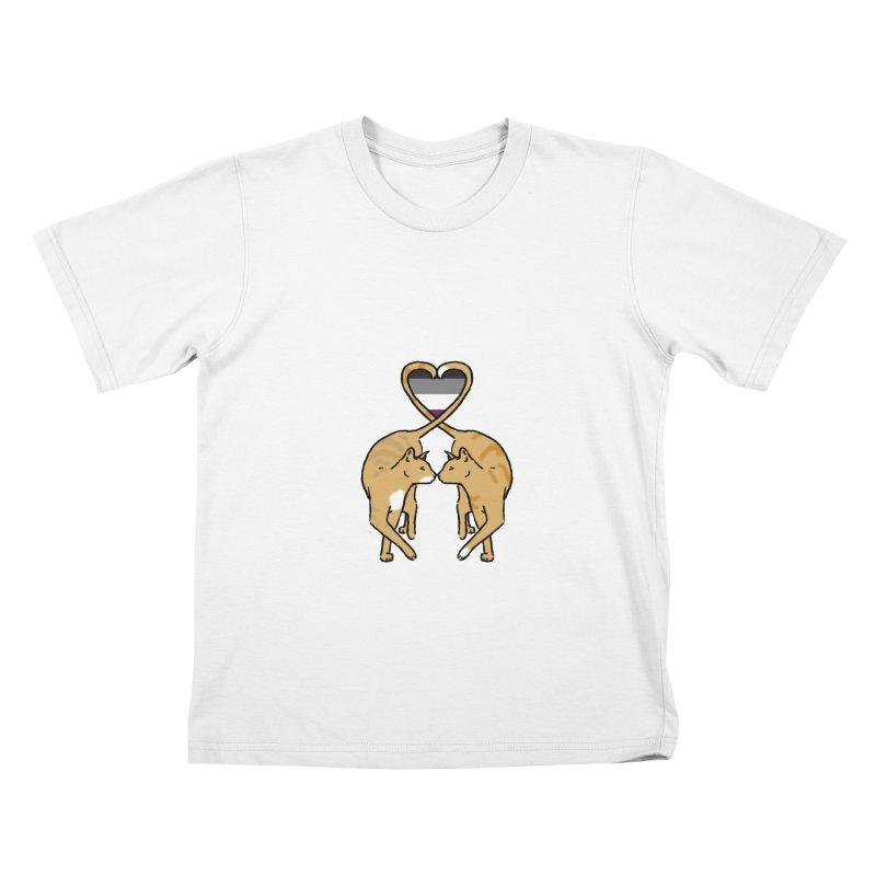 Ace Pride - Love Cats Kids T-Shirt by alrkeaton's Artist Shop