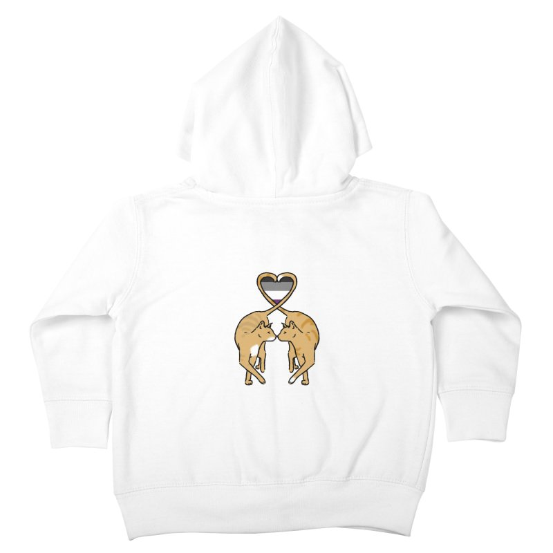 Ace Pride - Love Cats Kids Toddler Zip-Up Hoody by alrkeaton's Artist Shop