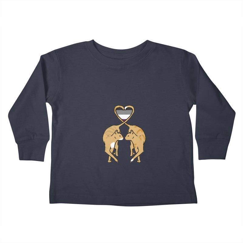 Ace Pride - Love Cats Kids Toddler Longsleeve T-Shirt by alrkeaton's Artist Shop