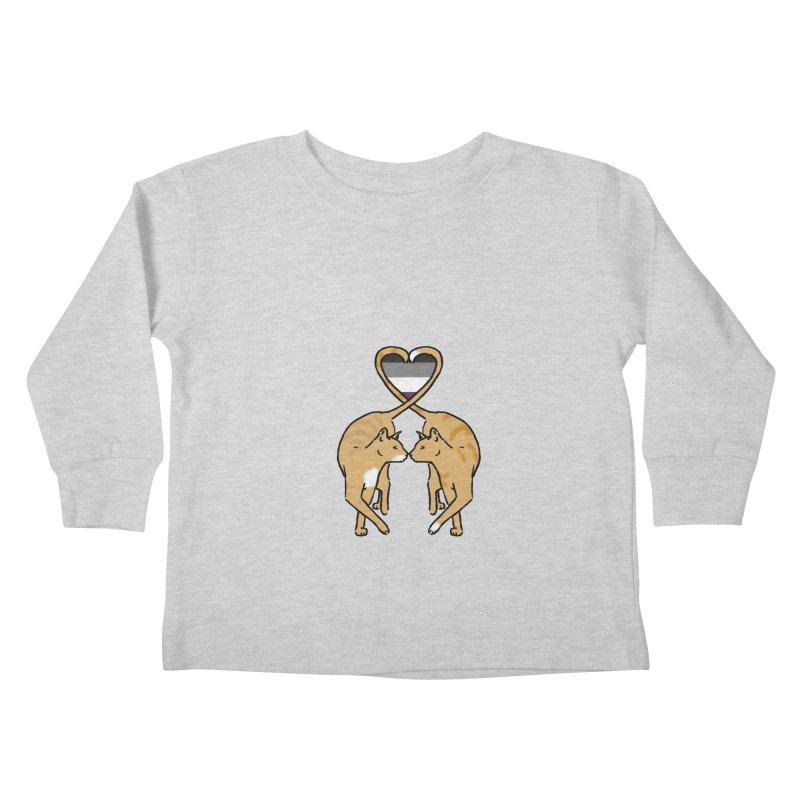Ace Pride - Love Cats Kids Toddler Longsleeve T-Shirt by alrkeaton's Artist Shop