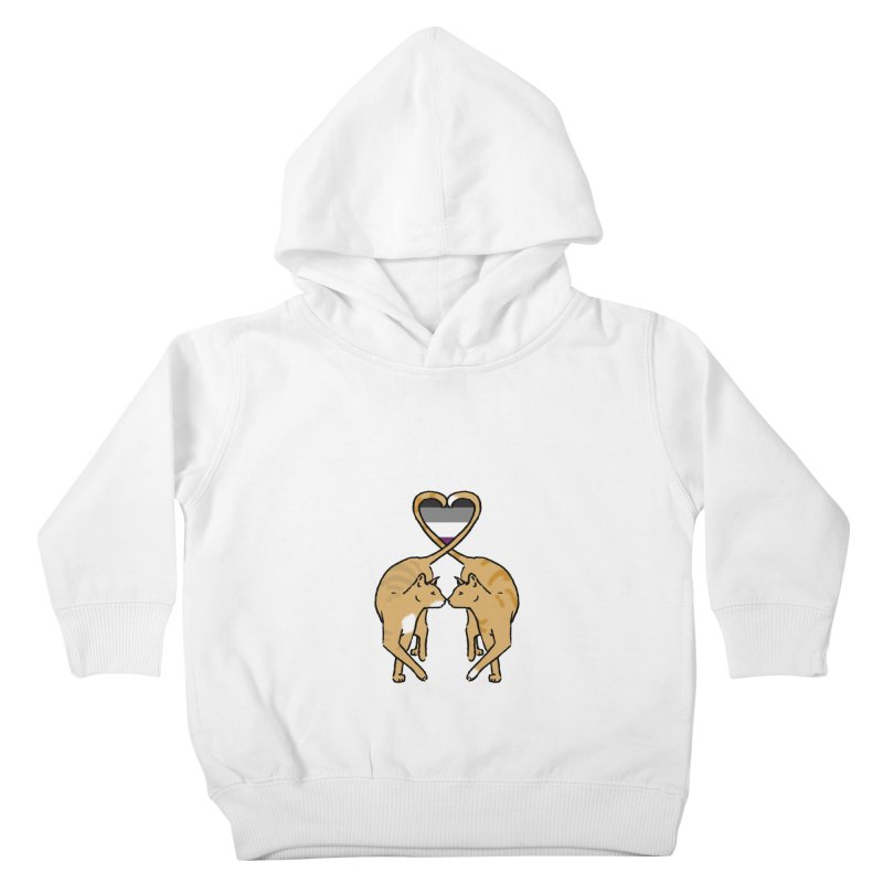 Ace Pride - Love Cats Kids Toddler Pullover Hoody by alrkeaton's Artist Shop