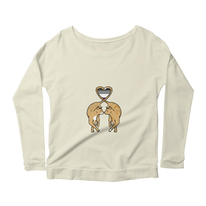 Ace Pride - Love Cats Women's Scoop Neck Longsleeve T-Shirt by alrkeaton's Artist Shop
