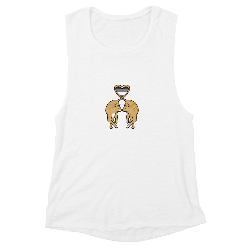 Ace Pride - Love Cats Women's Muscle Tank by alrkeaton's Artist Shop