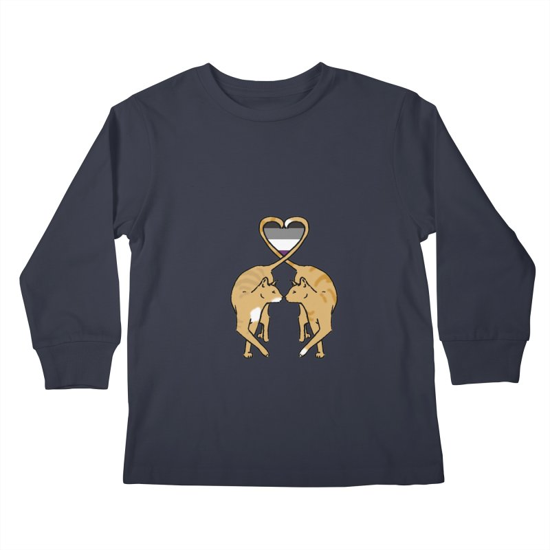 Ace Pride - Love Cats Kids Longsleeve T-Shirt by alrkeaton's Artist Shop