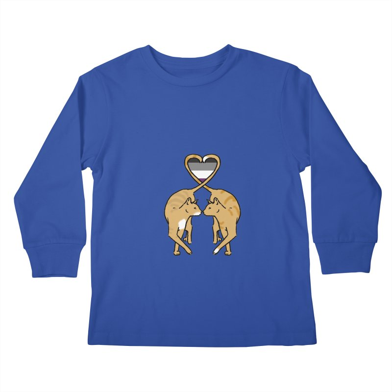 Ace Pride - Love Cats Kids Longsleeve T-Shirt by alrkeaton's Artist Shop