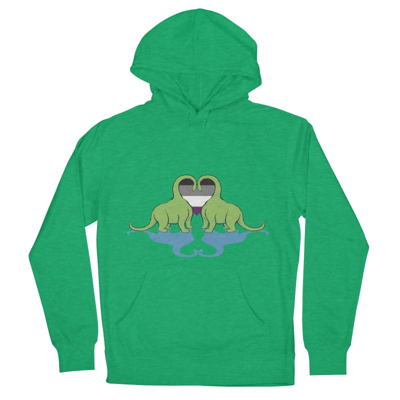Ace Pride - Dino Love Women's French Terry Pullover Hoody by alrkeaton's Artist Shop