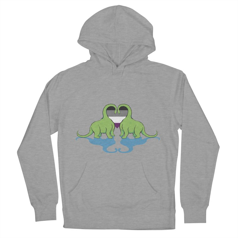Ace Pride - Dino Love Women's Pullover Hoody by alrkeaton's Artist Shop
