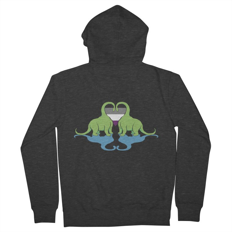 Ace Pride - Dino Love Women's French Terry Zip-Up Hoody by alrkeaton's Artist Shop