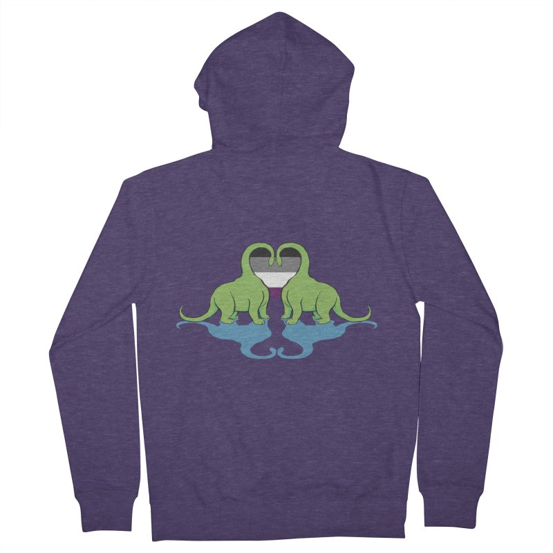 Ace Pride - Dino Love Men's French Terry Zip-Up Hoody by alrkeaton's Artist Shop