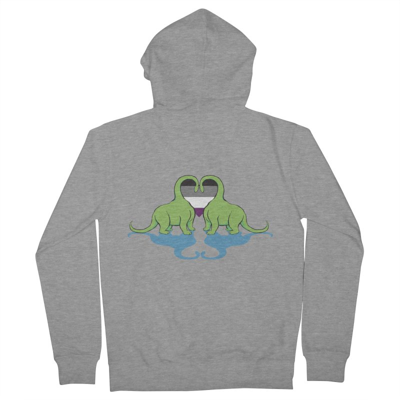 Ace Pride - Dino Love Men's Zip-Up Hoody by alrkeaton's Artist Shop