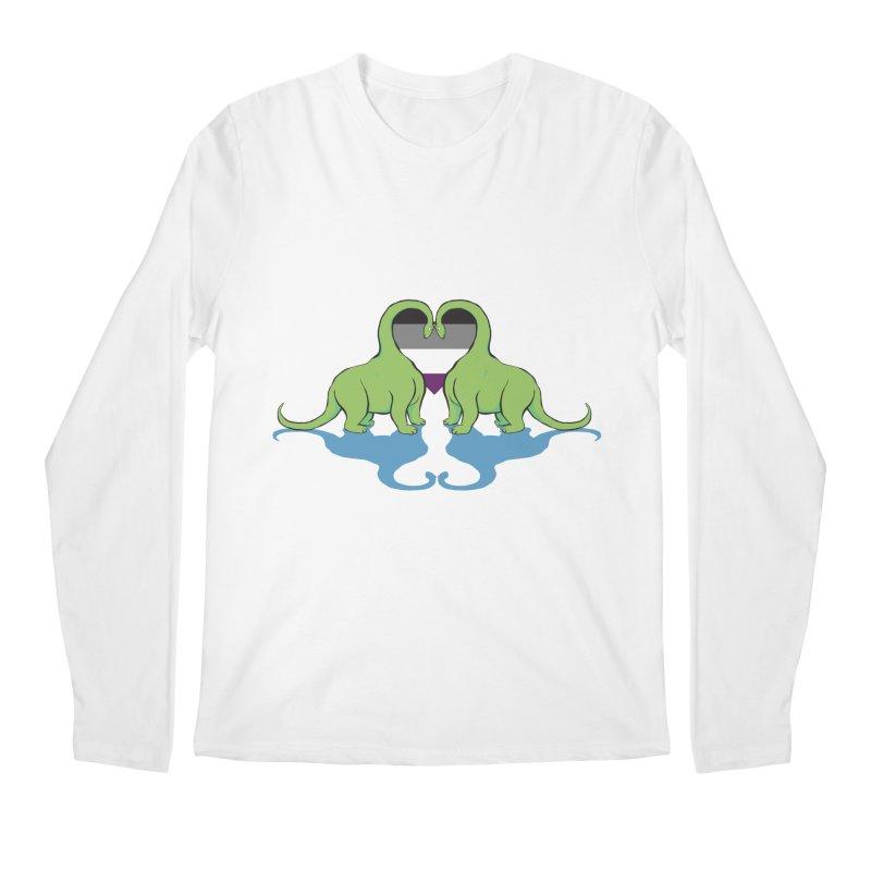 Ace Pride - Dino Love Men's Longsleeve T-Shirt by alrkeaton's Artist Shop
