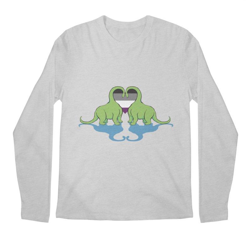 Ace Pride - Dino Love Men's Regular Longsleeve T-Shirt by alrkeaton's Artist Shop