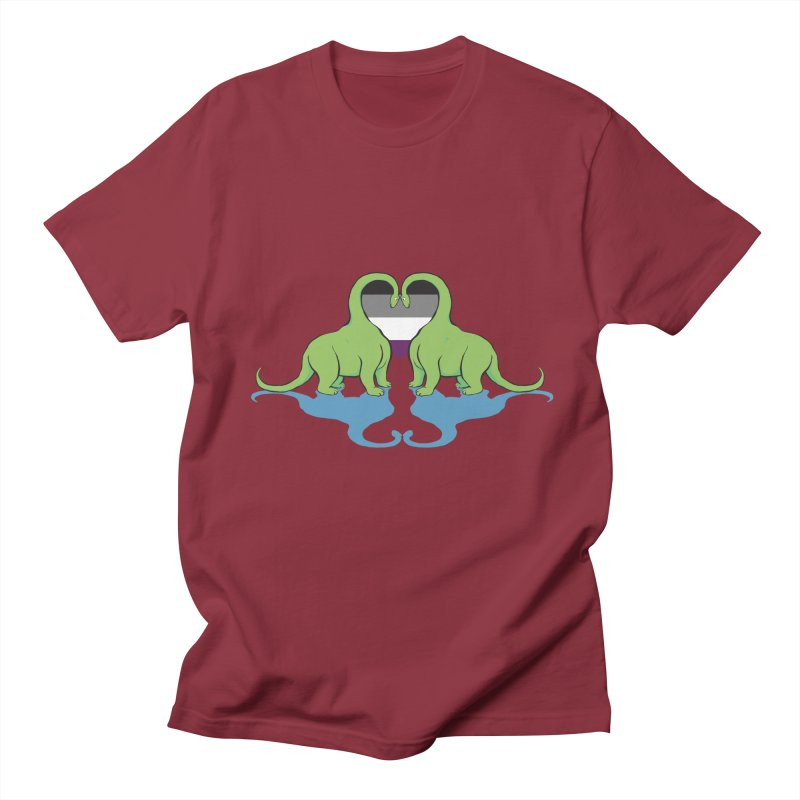 Ace Pride - Dino Love Men's T-Shirt by alrkeaton's Artist Shop