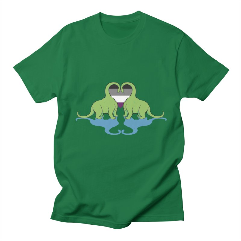 Ace Pride - Dino Love Men's T-Shirt by alrkeaton's Artist Shop