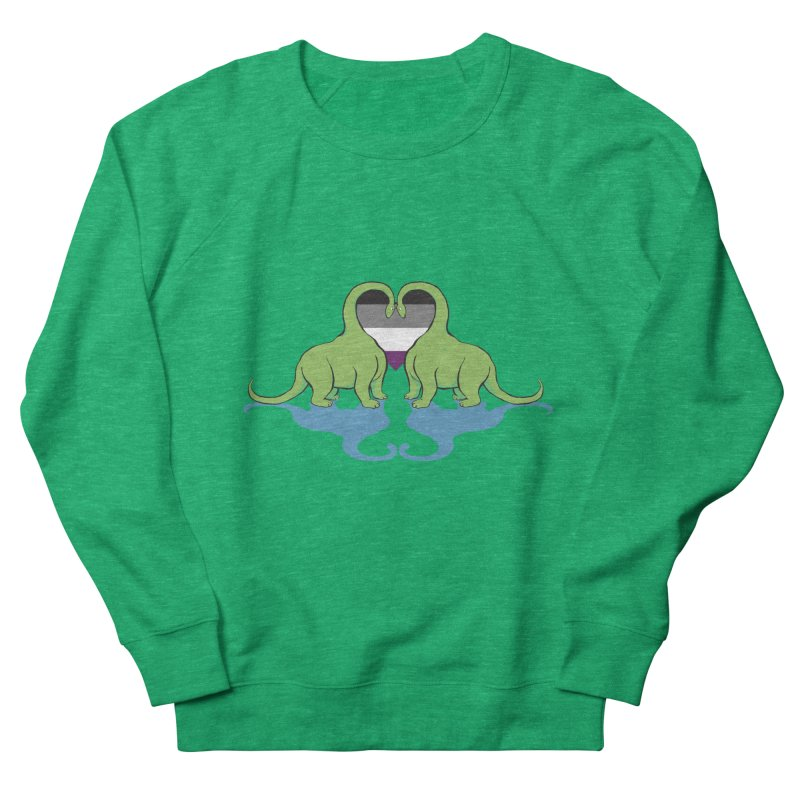 Ace Pride - Dino Love Women's French Terry Sweatshirt by alrkeaton's Artist Shop