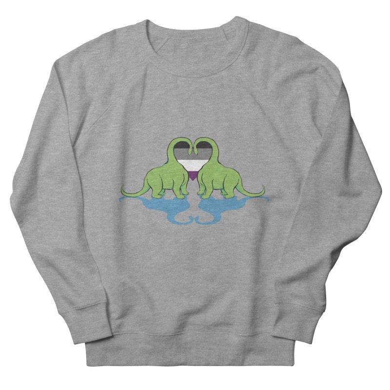 Ace Pride - Dino Love Women's Sweatshirt by alrkeaton's Artist Shop