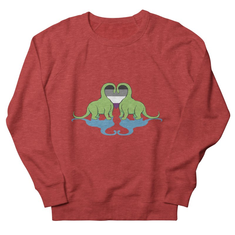 Ace Pride - Dino Love Men's Sweatshirt by alrkeaton's Artist Shop