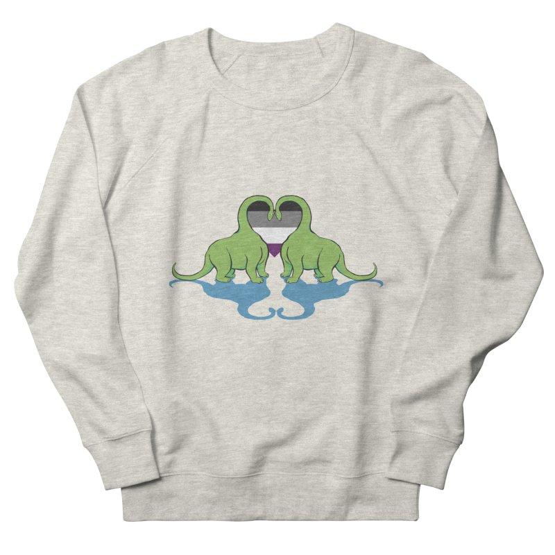 Ace Pride - Dino Love Men's Sweatshirt by alrkeaton's Artist Shop