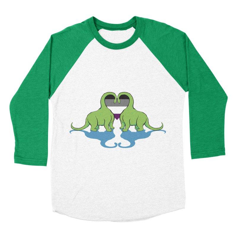 Ace Pride - Dino Love Women's Baseball Triblend T-Shirt by alrkeaton's Artist Shop