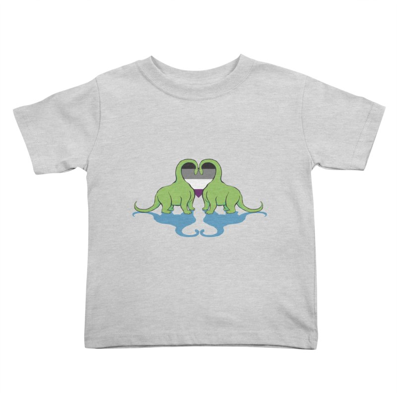 Ace Pride - Dino Love Kids Toddler T-Shirt by alrkeaton's Artist Shop