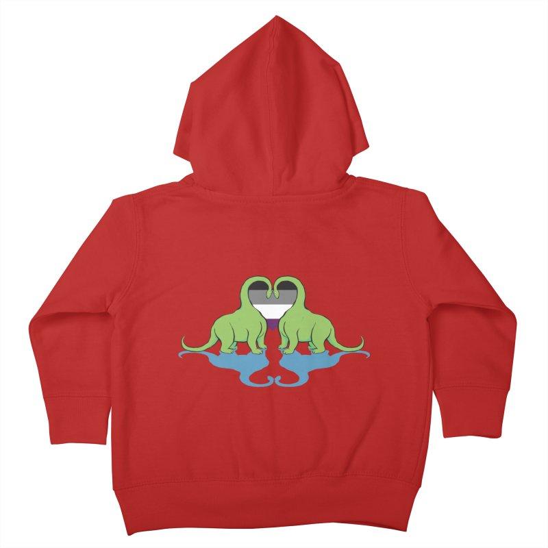 Ace Pride - Dino Love Kids Toddler Zip-Up Hoody by alrkeaton's Artist Shop