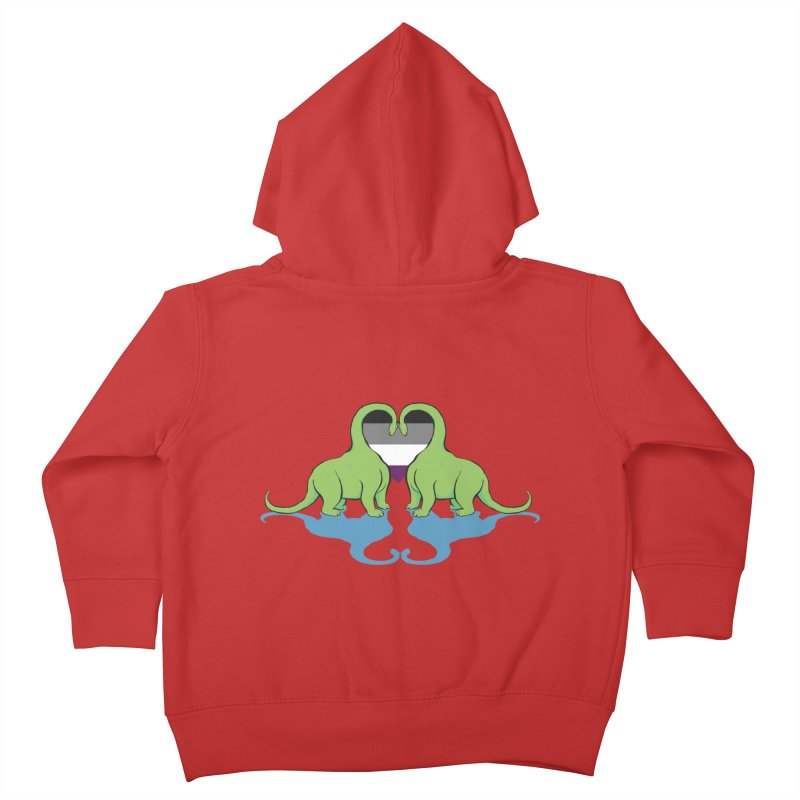 Ace Pride - Dino Love Kids Toddler Zip-Up Hoody by alrkeaton's Artist Shop