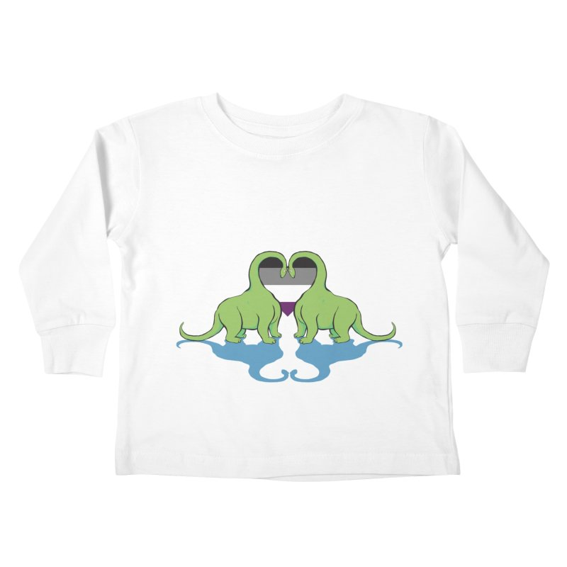 Ace Pride - Dino Love Kids Toddler Longsleeve T-Shirt by alrkeaton's Artist Shop
