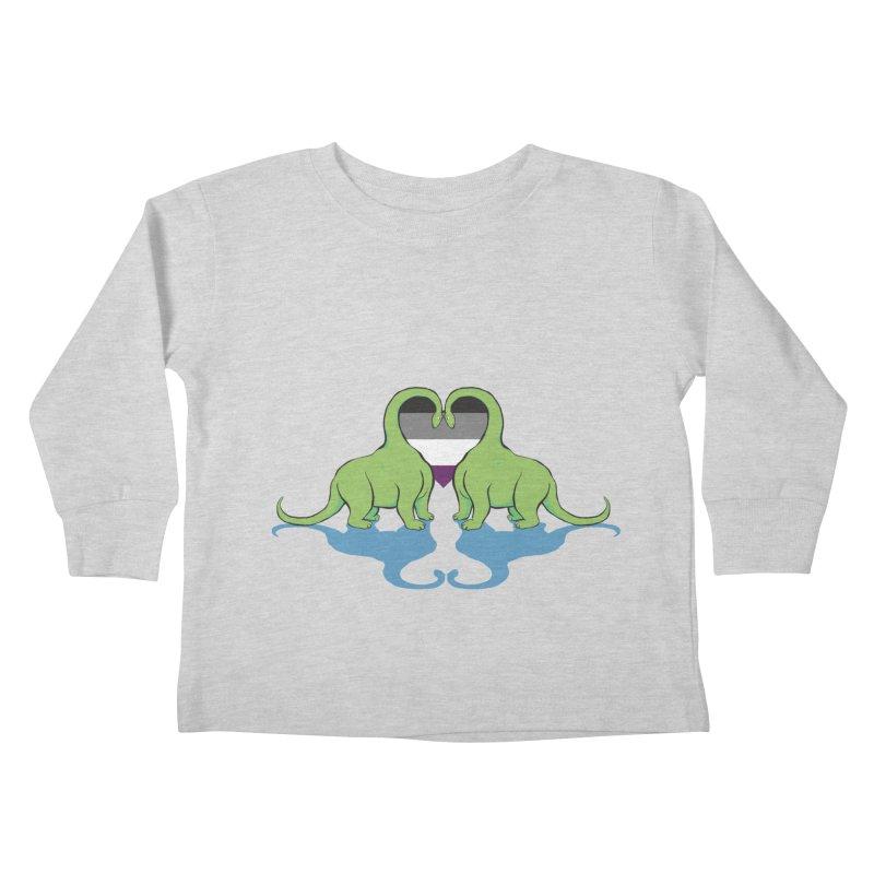 Ace Pride - Dino Love Kids Toddler Longsleeve T-Shirt by alrkeaton's Artist Shop