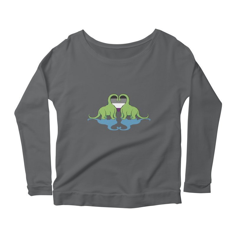 Ace Pride - Dino Love Women's Scoop Neck Longsleeve T-Shirt by alrkeaton's Artist Shop