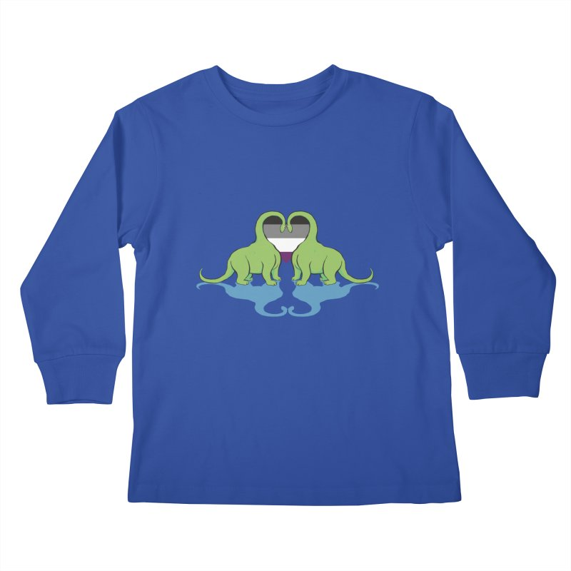 Ace Pride - Dino Love Kids Longsleeve T-Shirt by alrkeaton's Artist Shop